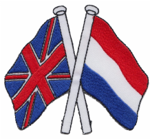 United Kingdom UK & Netherlands  Friendship Embroidered Patch A186